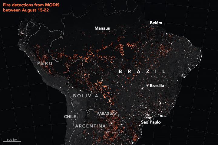 ブラジル火災