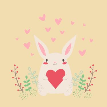 殺伐としたblogにウサギが!